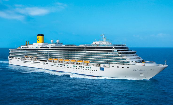Costa Luminosa is setting off today on a 106-day around the world cruise!