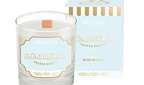Inspired by indulging in a classic dessert while looking incredibly chic doing so. The candlefeaturesnotes of custard, caramel, and cream. Candle by Coal and Canary.