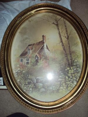 Beautiful Set Of Home Interior Homco Vintage Cottage Pictures
