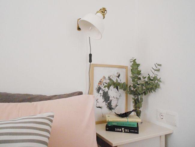 Decorar piso de alquiler: mi habitación en blanco, rosa y gris : via La…