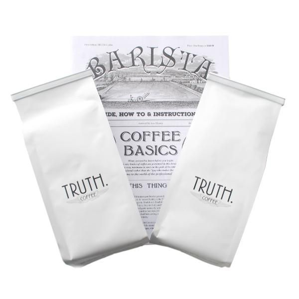 This new bundle includes @TRUTHcoffee's flagship blends as well as their own Barista Manual http://capecoffeebeans.co.za/collections/coffee-bundles/products/truth-coffee-roasting-barista-basics-bundle …