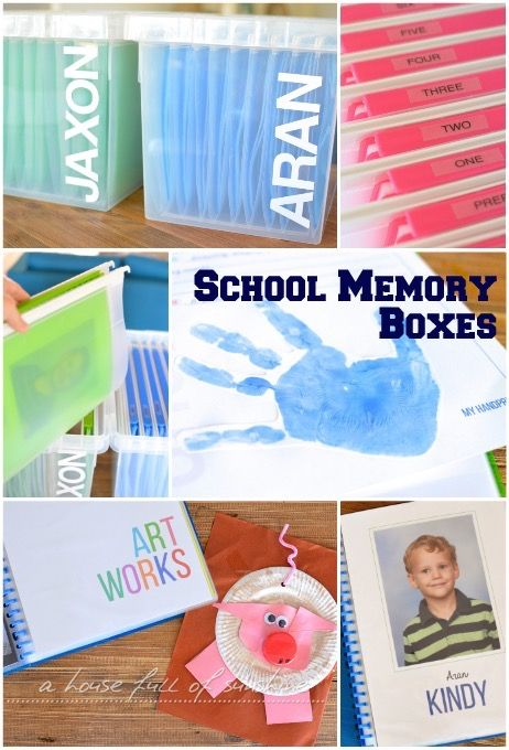 School memory boxes - with FREE printables to create your own!