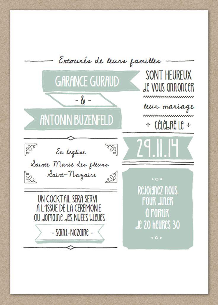 Faire part Jolie Garance | Made in You - Le ShopMade in You - Le Shop #wedding #printable #editablestationary #miyleshop