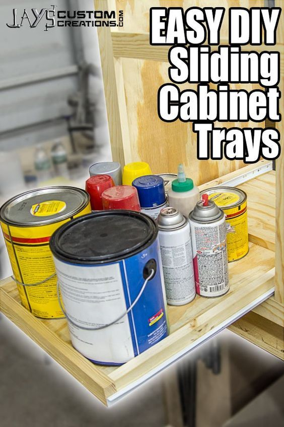 Super EASY DIY Slide Out Cabinet Trays (Free Plan!) – Jays Custom Creations