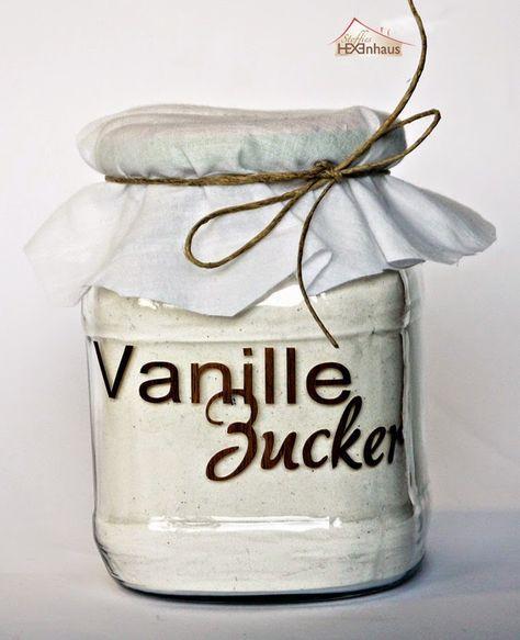 Wenn ihr auch gerne so einen Aufkleber auf euer Vanillezucker-Glas kleben wollt, könnt ihr kostenlos die Schneidedatei (Studio) runter...