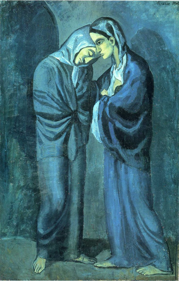 "One of Picasso's paintings from his ""Blue Period."""