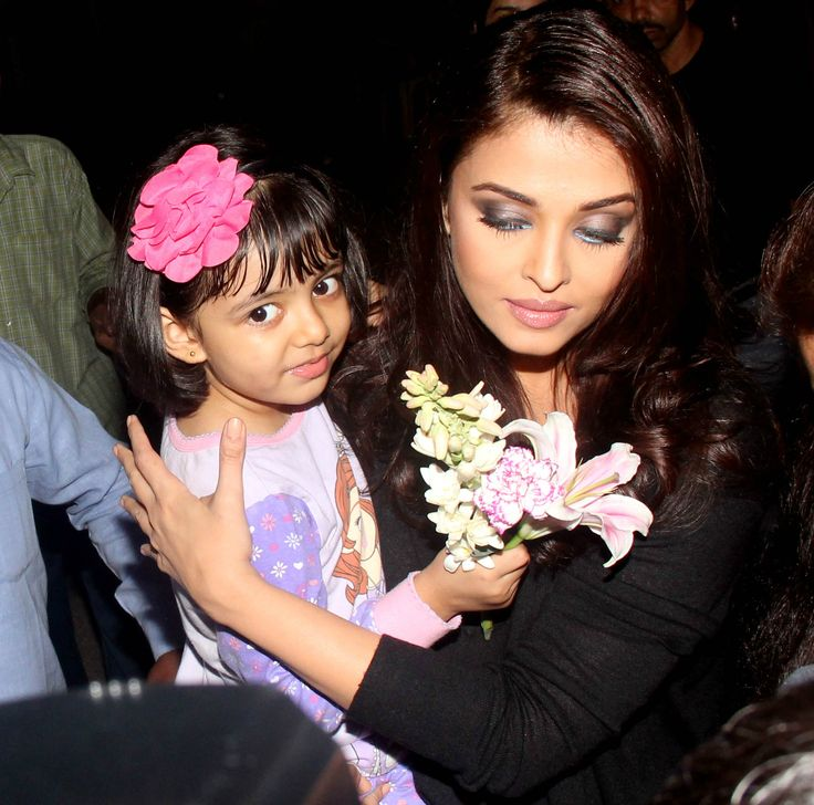 With daughter Aaradhya Bachchan