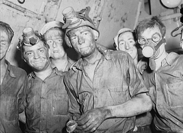 Merchant Mariners aboard a training ship working in the boiler room. http://www.smithsonianmag.com/history/merchant-marine-were-unsung-heroes-world-war-ii-180959253/?no-ist