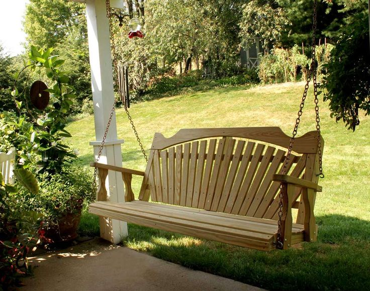 Simple Porch Swings Design ~ http://www.lookmyhomes.com/enjoy-the-warmth-of-the-family-along-with-porch-swings/