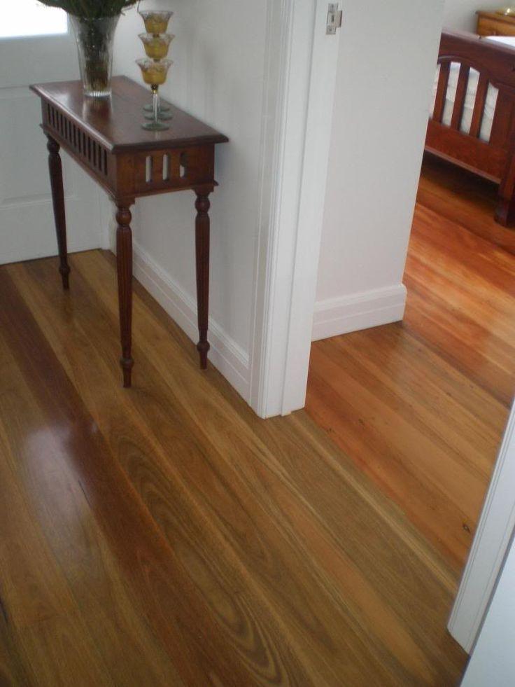 spotted gum (hallway) against original kauri pine (in adjacent room)