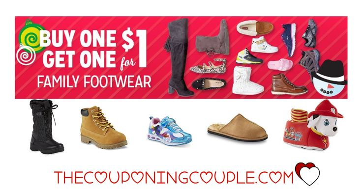 WOW!! Get BOGO $1.00 Shoes and Boots! Perfect time to grab some new shoes for gifts or winter! Get 2 pairs for less than $15! Sneakers, dressy, casual, slippers and even snow boots!  Click the link below to get all of the details ► http://www.thecouponingcouple.com/bogo-50-shoes-kmart-great-for-back-to-school/  #Coupons #Couponing #CouponCommunity