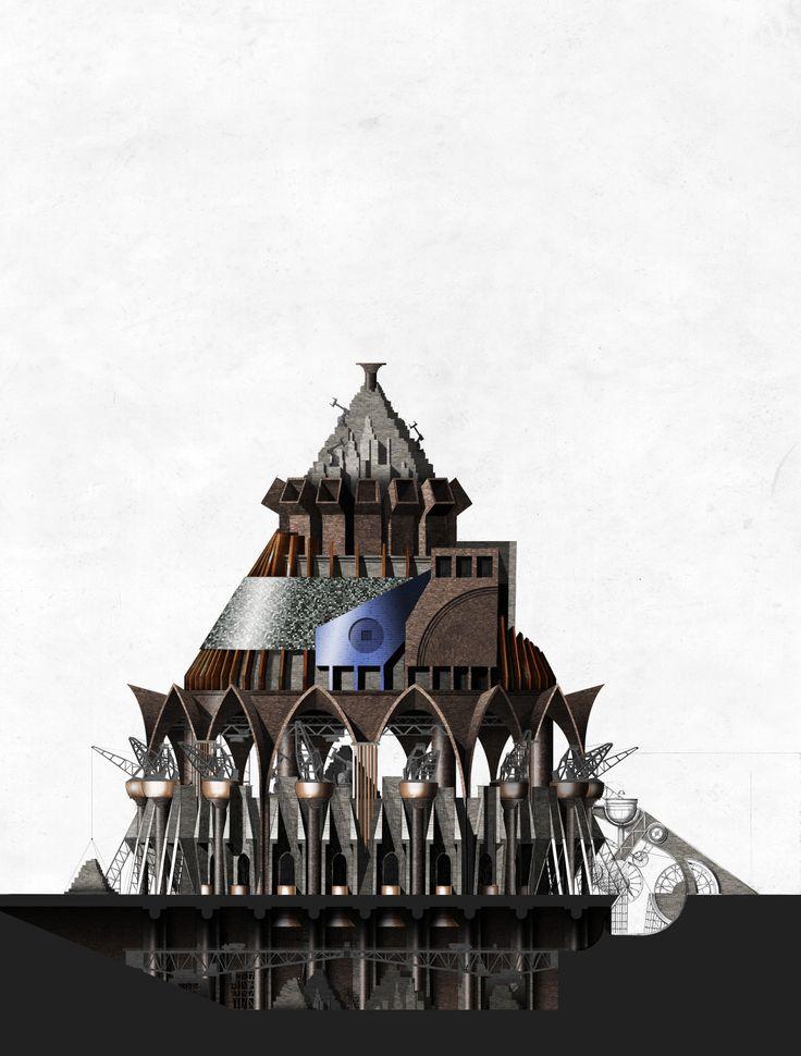 London Brickworks project - Brick kiln elevation