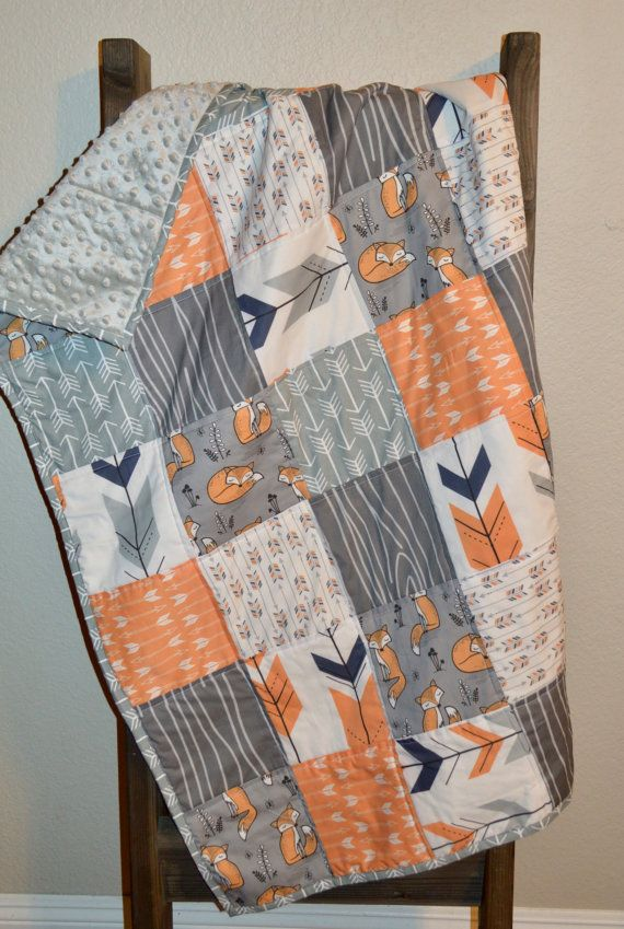 Woodland baby bedding/ Fox Nursery Bedding by MadeWithLoveBedding
