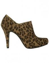 Quill shoe boot in ocelot print $69.95
