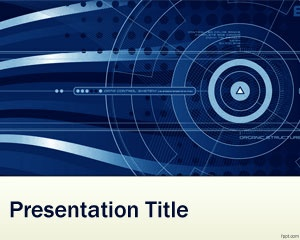 Nanotechnology PowerPoint template is a free PPT background for PowerPoint with blue effect and great for nanotechnology presentations in PowerPoint