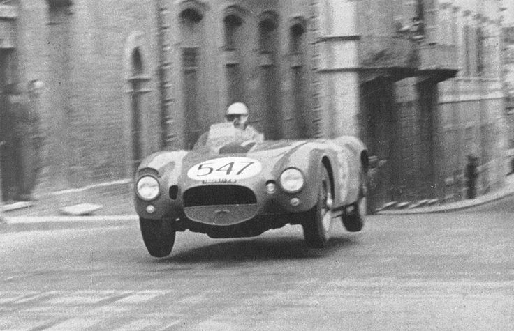 Lancia D24 (1954)  At the Mille Miglia, where the powerful V6 3.2 liter engine was roaring through the streets of Italy.