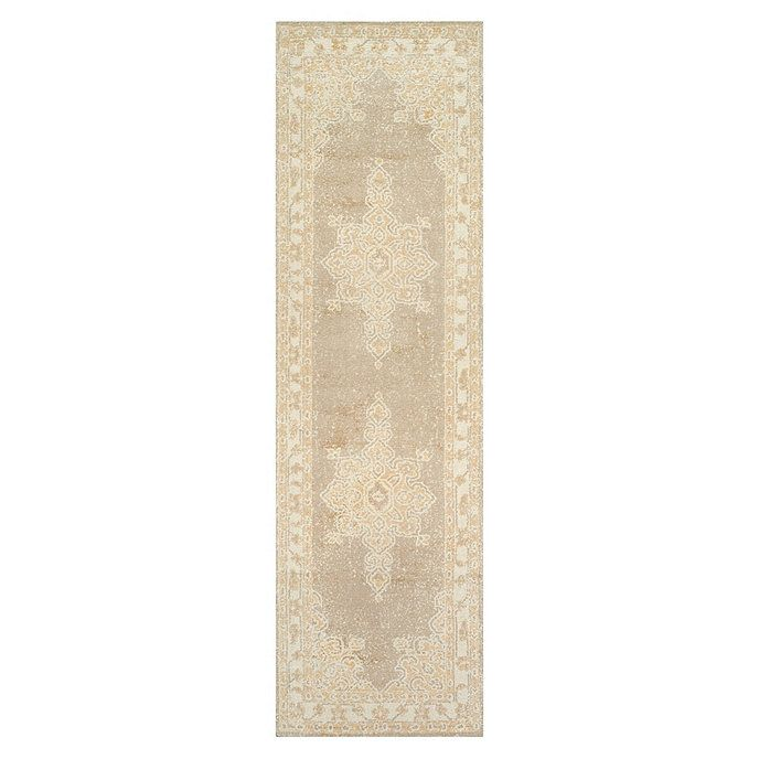 The traditional Persian motif is created by applying dyes using a special printing technique to achieve a faded, timeworn look. The palette was specially selected to work with many of our best-selling fabrics. Hand tufted of soft 100% wool. Use of a rug pad is recommended. Order a swatch to see the actual colors.Sahara Rug features:Swatches availableSizes are approximatePattern scale & repeat may will with rug sizeImported