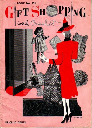 Book no 191, gift shopping with crochet, came out in 1942, has 24 pages, even crochet earrings in here. available at http://www.buggsbooks.com