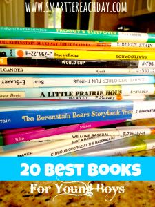 20 Best Books for Boys - Must-read list! Even includes a printable chart to bring to the library!