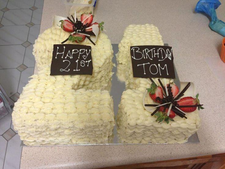 White choc 21st cake