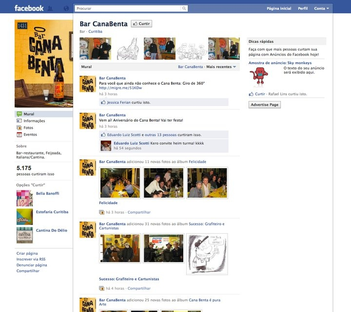 Cana Benta Bar - Fan Page