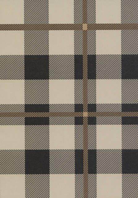 LEWIS & WOOD Tartan Wallpaper in Black & Tan