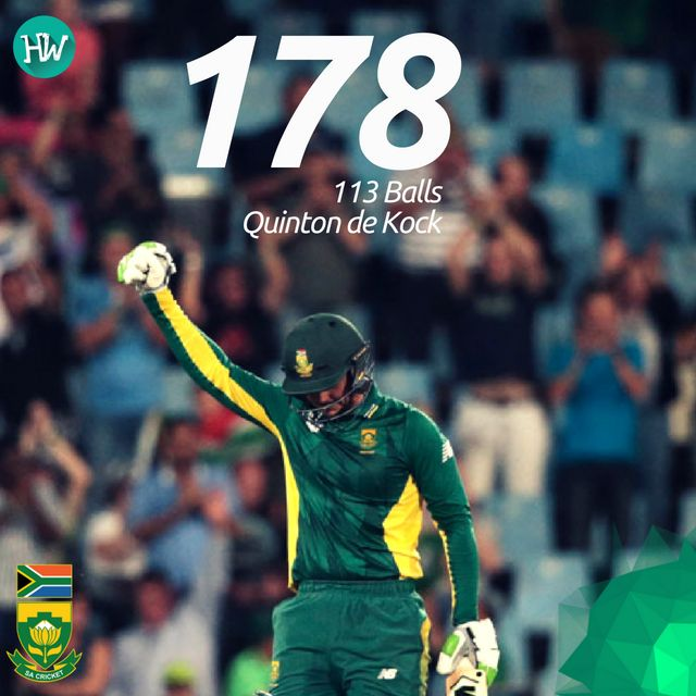 Quinton de Kock's insane innings helped South Africa win the 1st ODI! #SAvAUS #SA #AUS #cricket