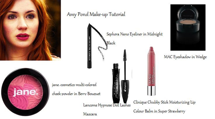 Amy Pond (Doctor Who) Makeup Tutorial. I am re-uploading my makeup tutorials since they got deleted