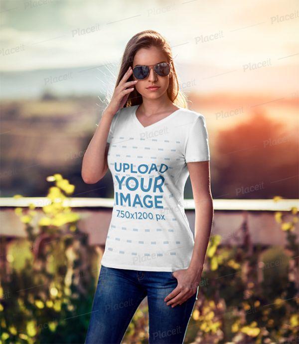 Download T Shirt Mockups Free Premium For Designers In 2020 Shirt Mockup Tshirt Mockup T Shirts For Women