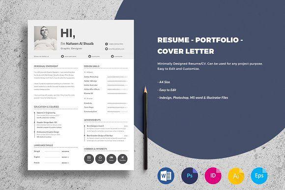 Minimal Resume/CV Template @creativework247