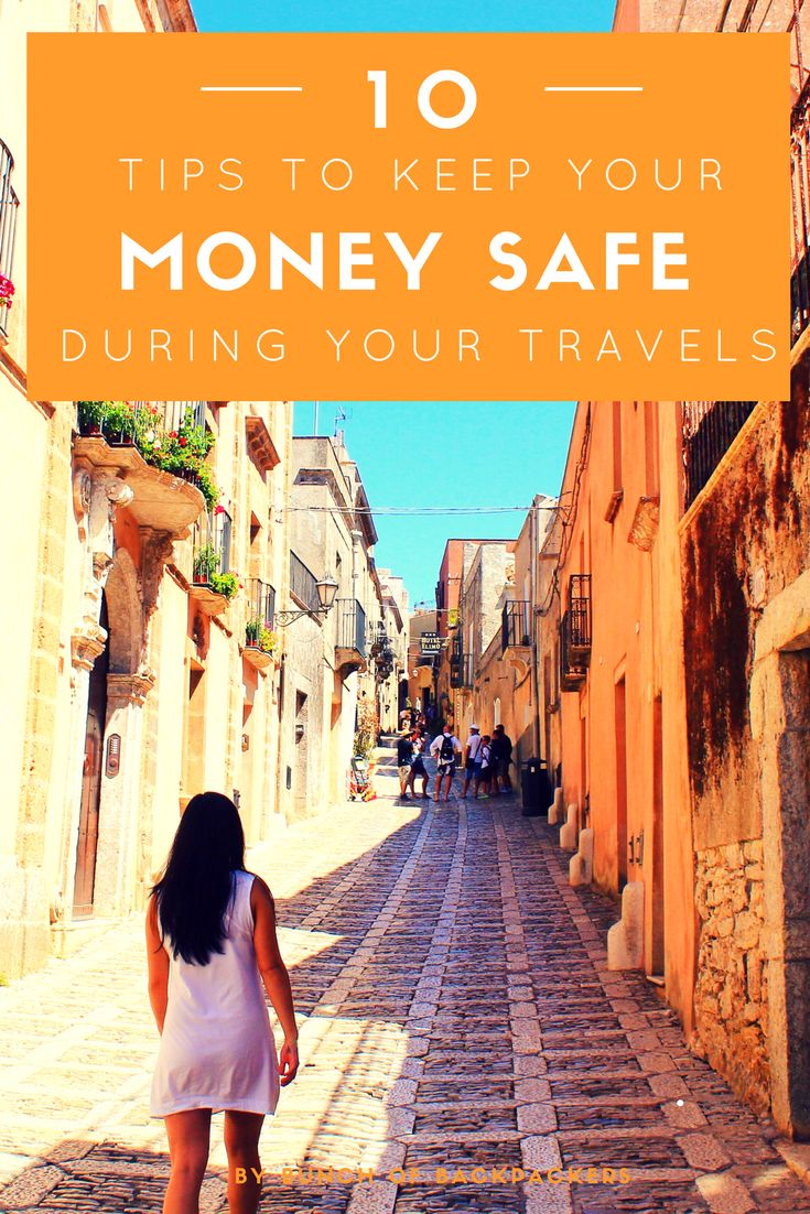 10 must read and easy-to-apply tips to keep your money safe during your travels. From hiding your money in a lipstick, carry multiple credit cards and to divide your money over your bags. Don't miss my secret tip.    By Bunch of Backpackers. #Traveltips