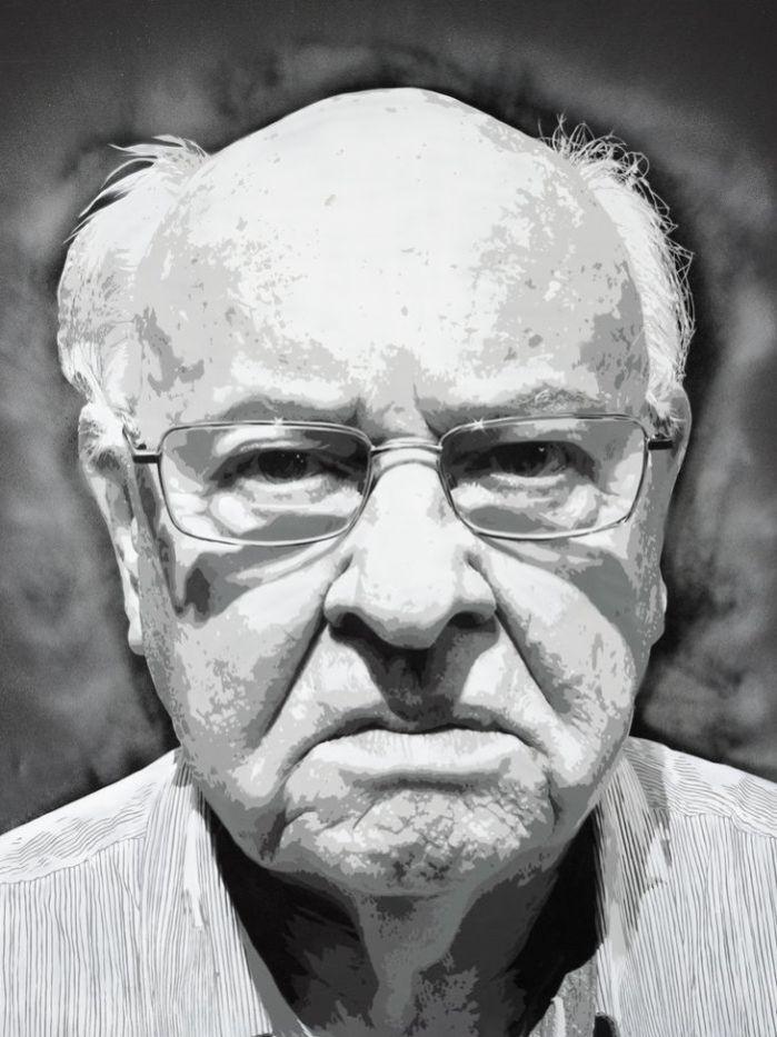 Luke Cornish's entry in the Archibald Prize - Father Bob.