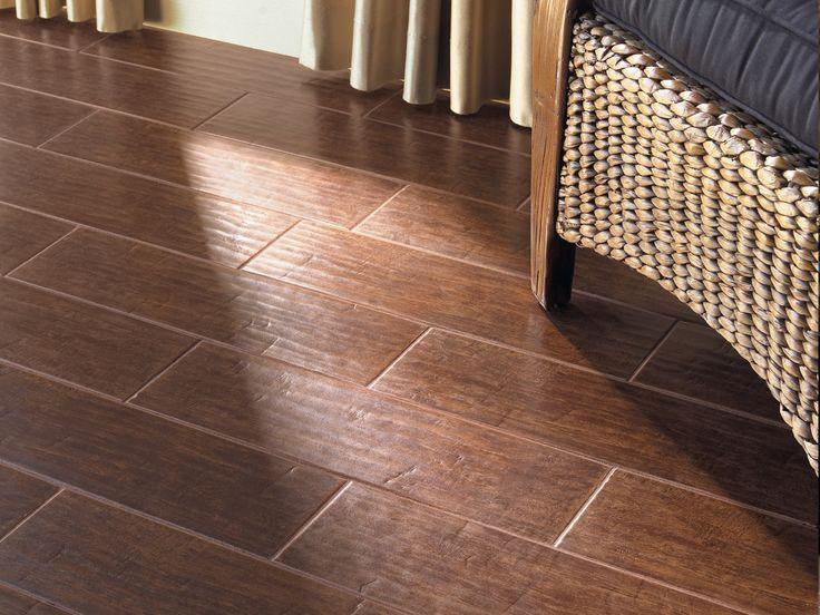 #Interceramic - Colonial Wood - Mahogany - HD Ceramic Floor Tile