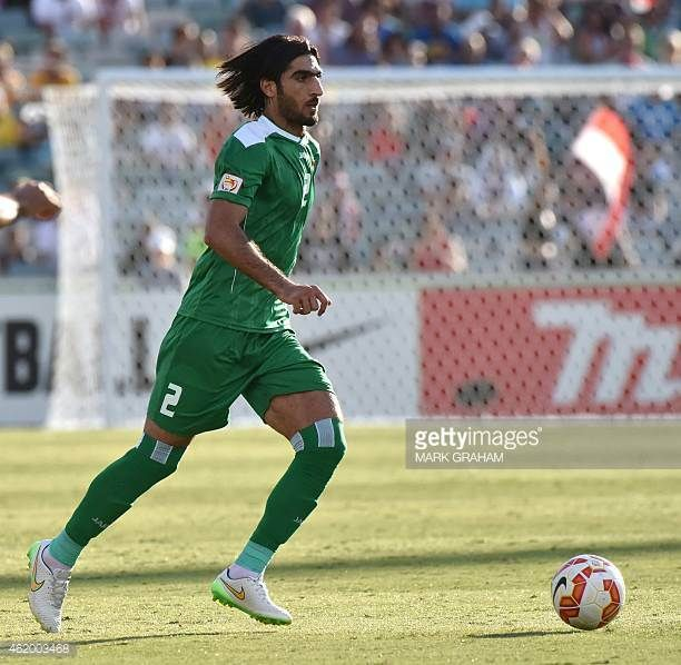 AhmedIbrahim of Iraq controls the ball during the Asian Cup quarterfinal football match between Iraq and Iran in Canberra on January 23 2015 AFP...