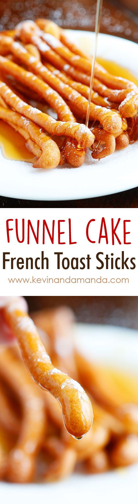OMG these are Funnel Cake French Toast Sticks! What a fun idea!