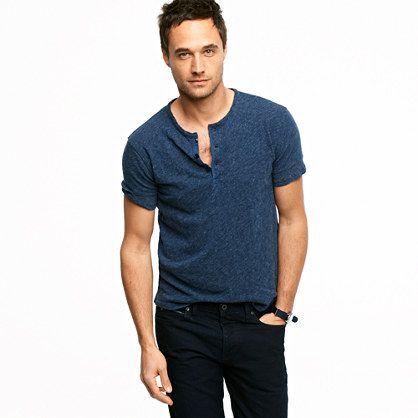 Workwear short-sleeve henley