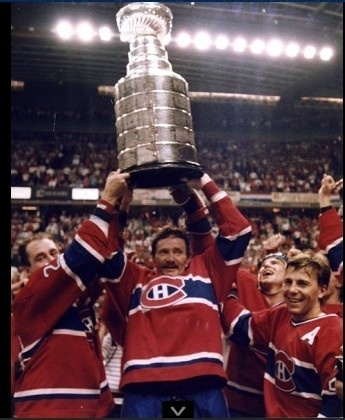 1986 Stanley Cup Champions: Montreal Canadiens    BECAUSE when you win it this many TIMES......you have to smile.....
