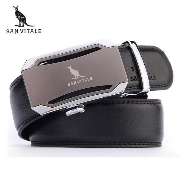 Mens fashion Belt 2016 New Designer Automatic Buckle Cowhide Leather men belt 110cm-130cm Luxury belts for male