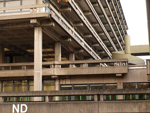Bochum, Ruhr-Universität (Campus Master Plan by Hentrich Petschnigg architects, 1962-84; ND Building by Eller Moser Walter architects, 1965-68)
