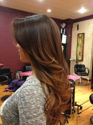 dark hair with caramel ombre - Google Search