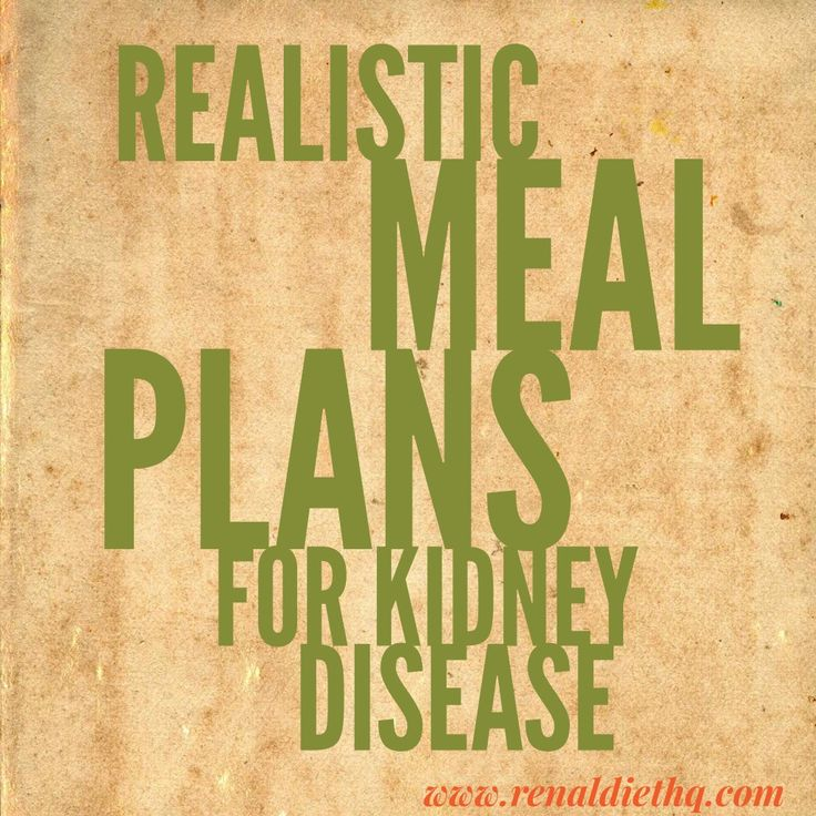 realistic meal plans