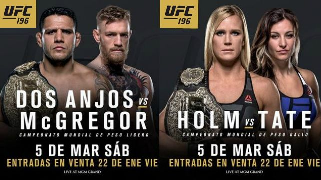 Watch UFC 196: McGregor vs. Diaz 3/5/2016 5th March 2015 (5/3/2015) Full Show Online Free Watch UFC 196: Conor McGregor vs Nate Diaz 3/5/2016 - 5th March 2016 Live stream Watch Online (Livestream Li