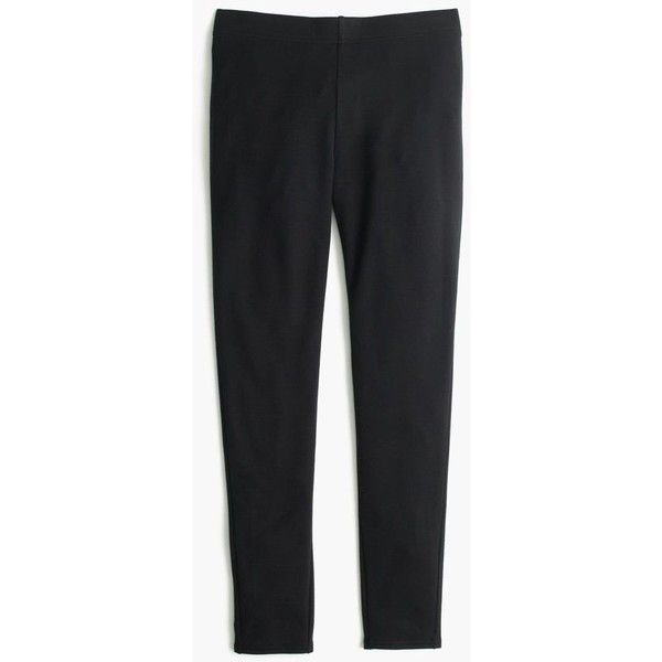 J.Crew Cozy Leggings ($53) ❤ liked on Polyvore featuring pants, leggings, j. crew pants, long pants, j crew trousers, j.crew leggings and long leggings