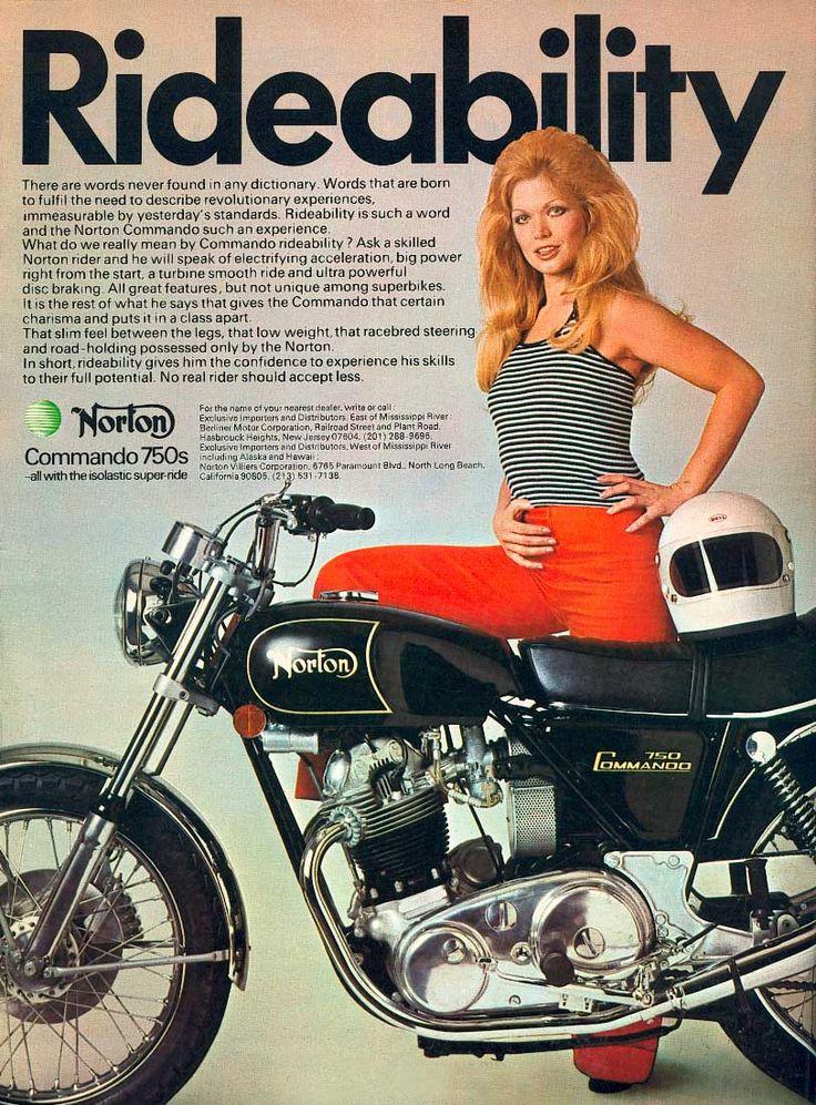 Vintage 1969 Norton Commando 750 Motorcycle Ad