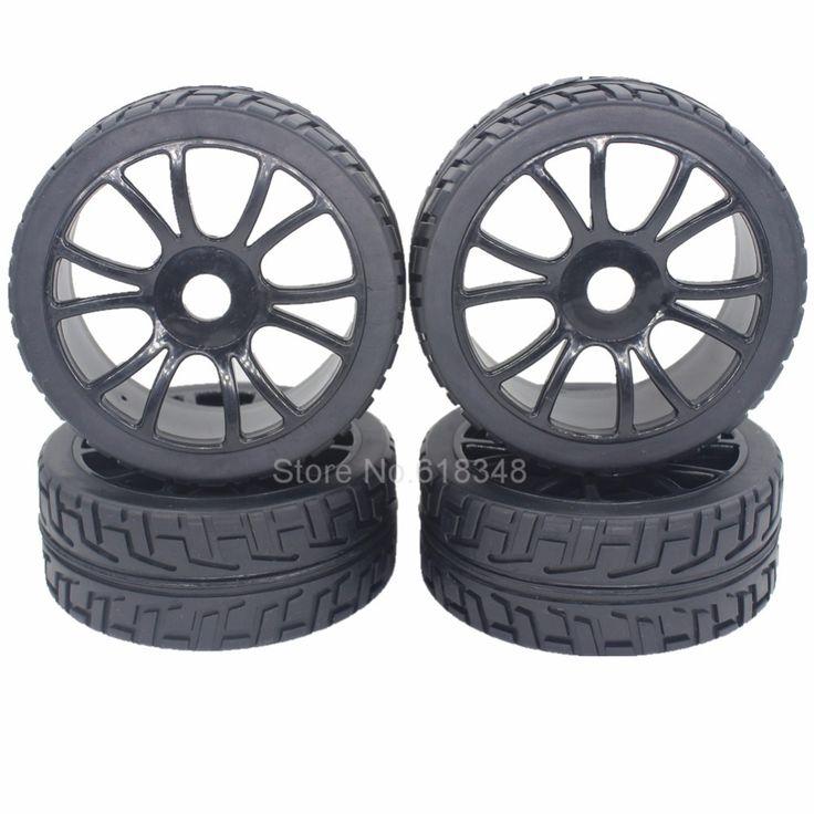 4pcs 1/8 Buggy Tires & Wheels Rims 17mm Hub For Off Road RC Car HPI Losi HSP BAZOOKA CAMPER #Affiliate