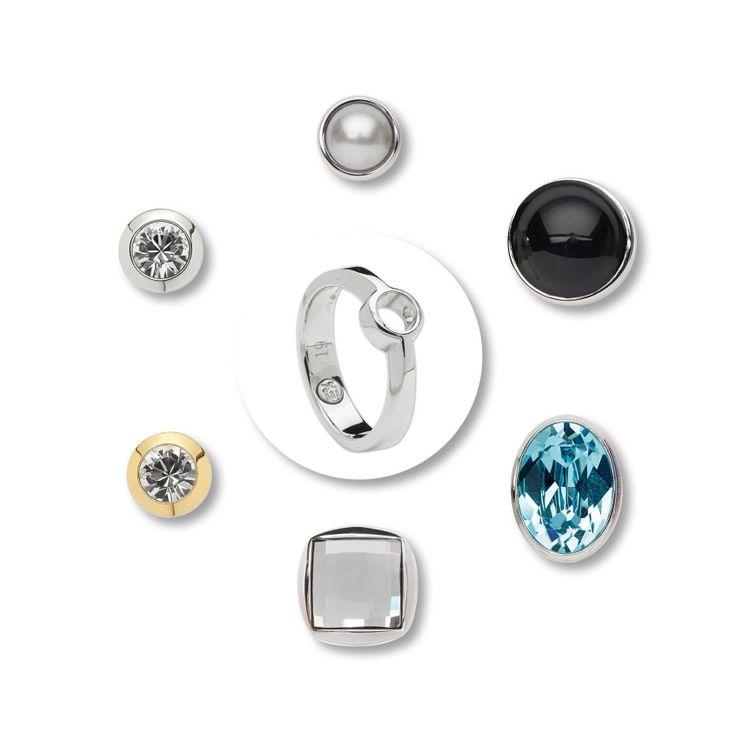 Energetix ring met verschillende opzetstukjes