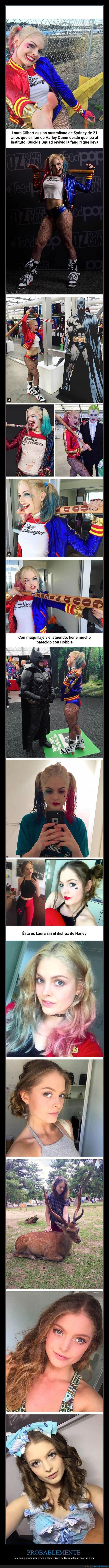 Laura es la mejor cosplayer de Harley Quinn que vas a ver nunca jamás - Éste sea el mejor cosplay de la Harley Quinn de Suicide Squad que vas a ver   Gracias a http://www.cuantarazon.com/   Si quieres leer la noticia completa visita: http://www.estoy-aburrido.com/laura-es-la-mejor-cosplayer-de-harley-quinn-que-vas-a-ver-nunca-jamas-este-sea-el-mejor-cosplay-de-la-harley-quinn-de-suicide-squad-que-vas-a-ver/