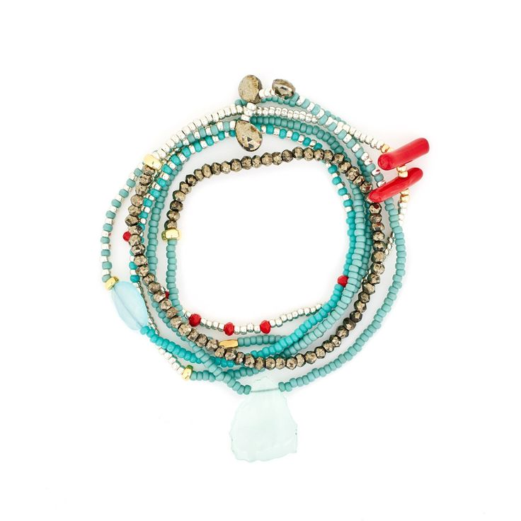 The Makery Gemstring long beaded necklace – MGS05