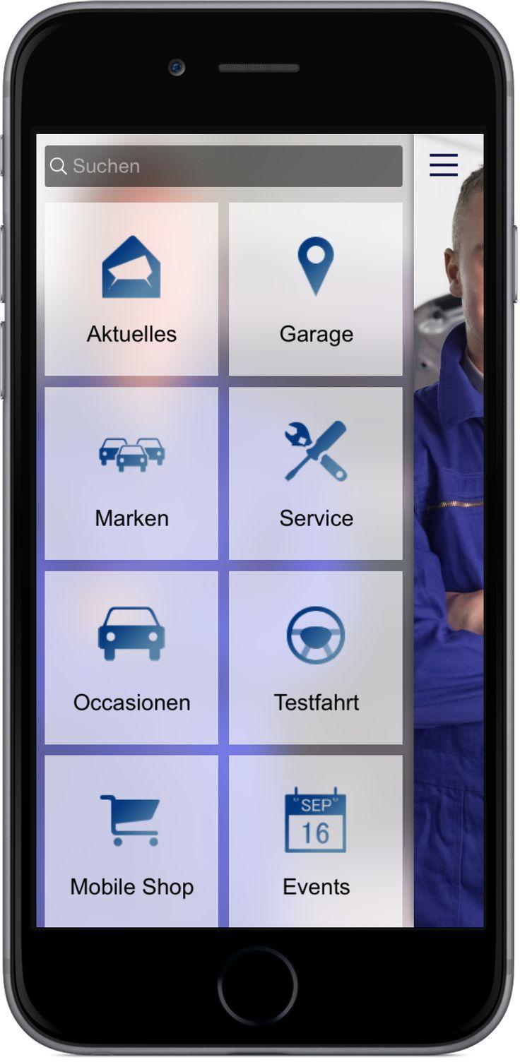 Mobile Marketing - Genau die richtigen Funktionen in der App für Auto Handel, Werkstatt und Garagen. http://nextvisionapps.com/de/online-demo-auto