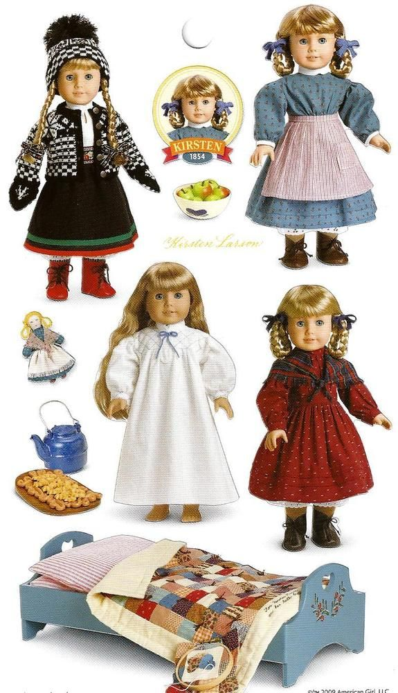 AMERICAN GIRL KIRSTEN STICKERS!  PARTY FAVOR~GIFT BAG!